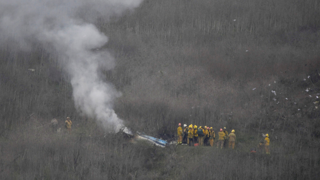Primeras imágenes desde el lugar donde se estrelló el helicóptero de Kobe Bryant (VIDEO, FOTOS)