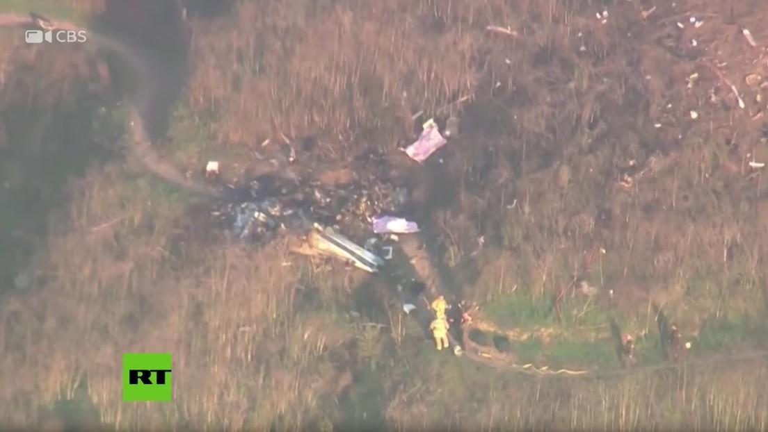 VIDEO: Imágenes aéreas del lugar donde se estrelló el helicóptero de Kobe Bryant