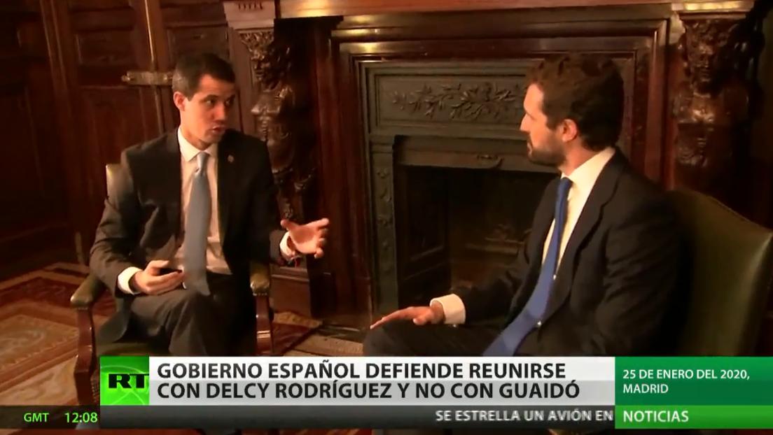 El Gobierno de España se defiende tras reunirse con Delcy Rodríguez y no con Juan Guaidó
