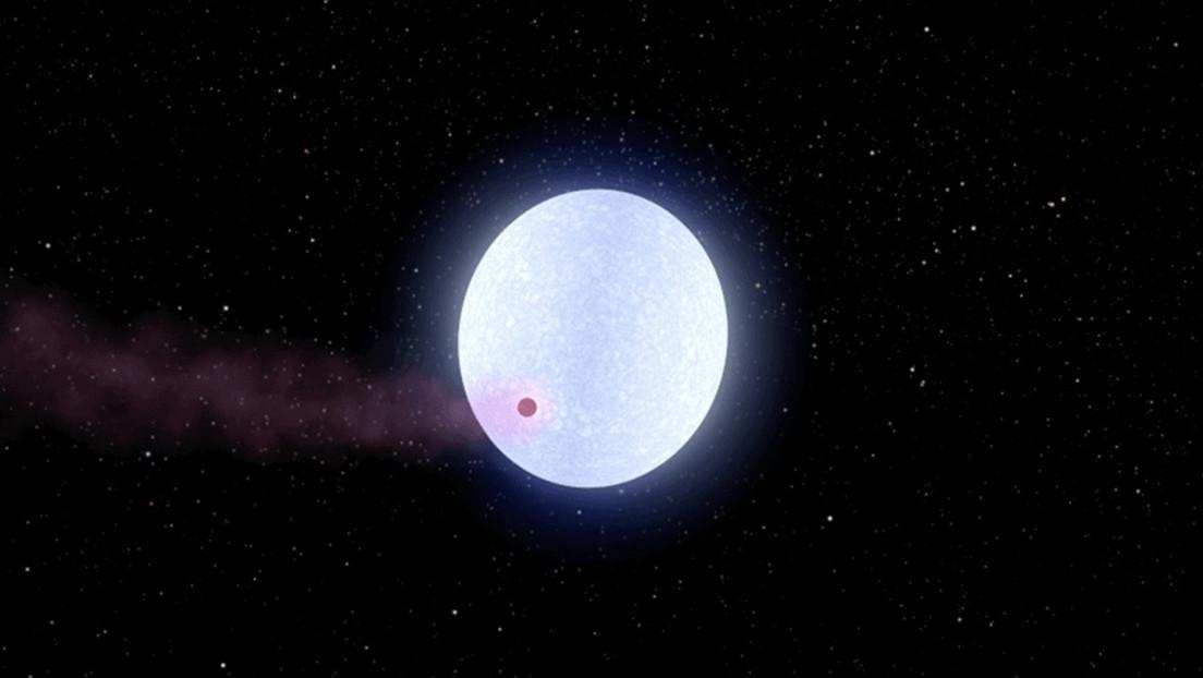 Exoplaneta ardiente tiene unas temperaturas tan elevadas que se 'autodestruye'
