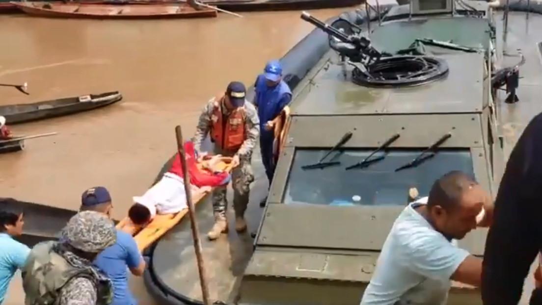 VIDEO: Hallan en Perú a una mujer colombiana y sus tres hijos perdidos en la Amazonía desde hace más de un mes