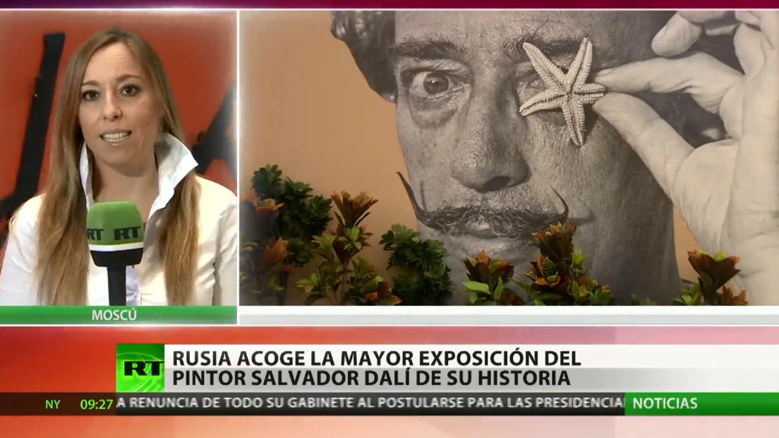Moscú acoge la mayor exposición del pintor Salvador Dalí de su historia