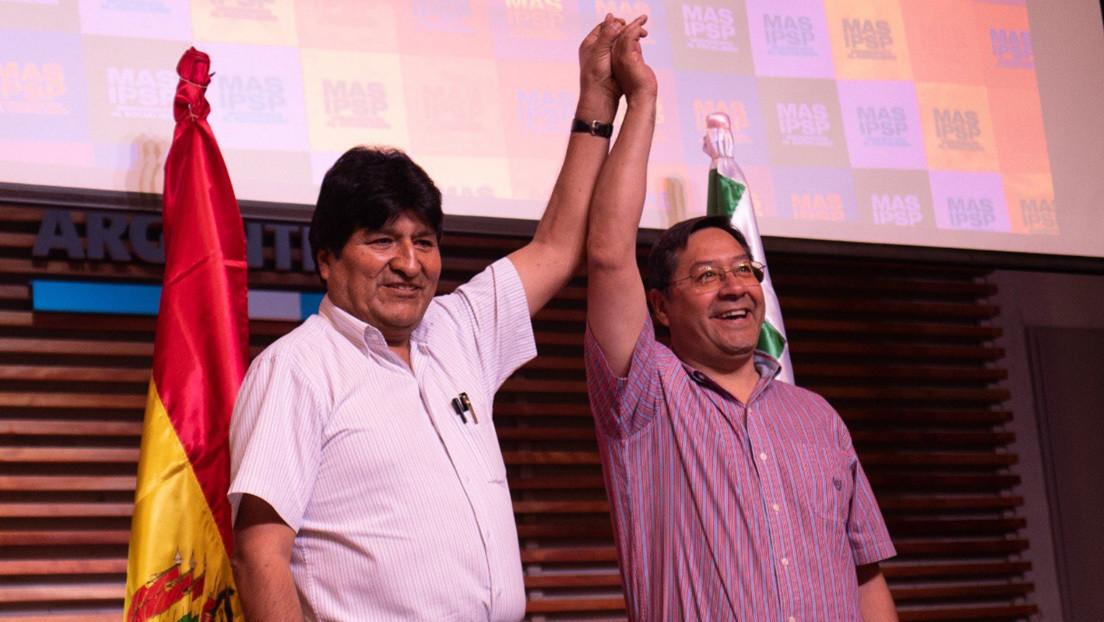 El candidato presidencial del MAS, Luis Arce, anuncia su regreso a Bolivia