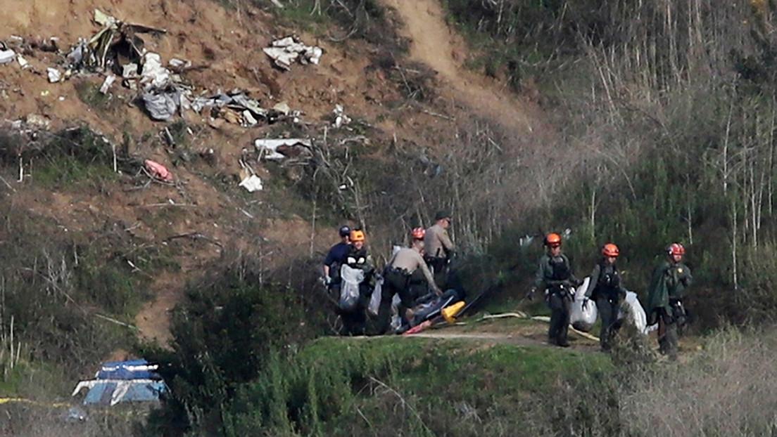 Los investigadores no ven componente criminal en el siniestro del helicóptero de Bryant