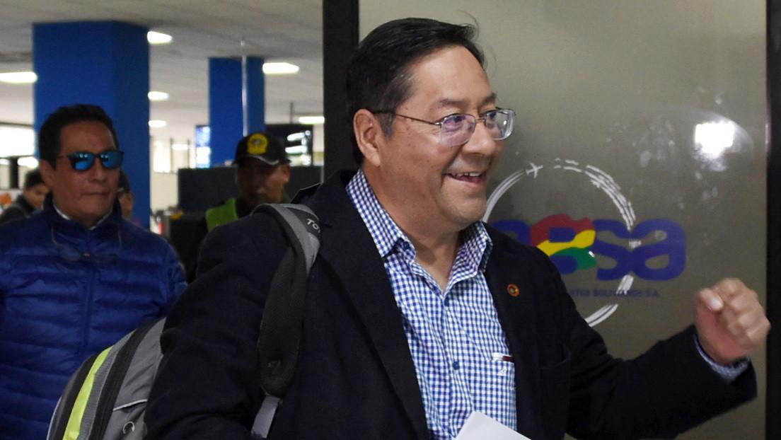 Luis Arce, candidato del partido de Evo Morales, regresa a Bolivia para las elecciones y recibe una notificación de la Fiscalía