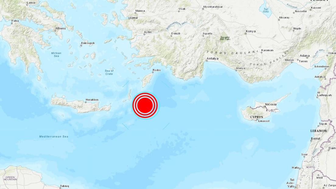 Sismo de magnitud 5,5 sacude el sur de Grecia