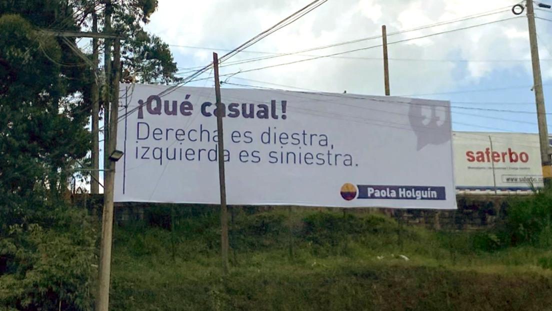 'Derecha es diestra, izquierda es siniestra': La propaganda por la que una senadora colombiana podría enfrentar cargos judiciales