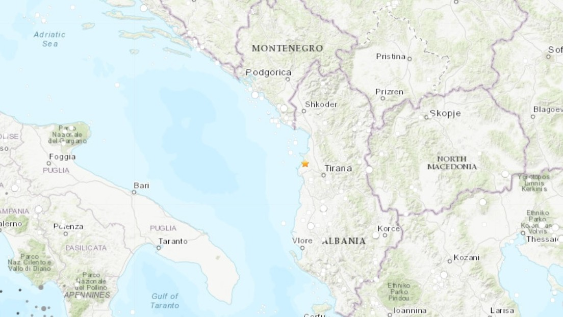 Un sismo de magnitud 5,1 sacude Albania