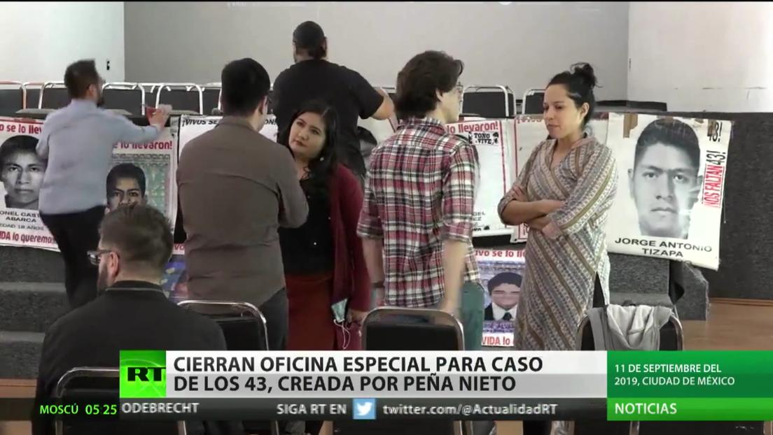 Cierran en México la Oficina Especial para investigación del caso de los 43, creada por Peña Nieto