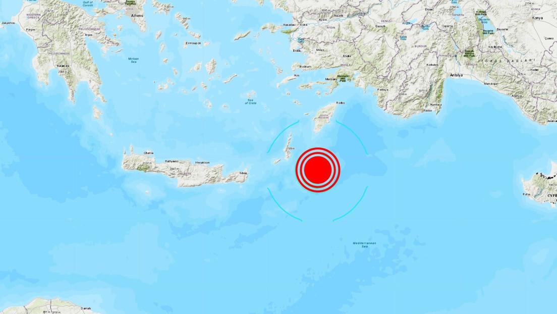 Un sismo de magnitud 5,8 se registra frente a las costas de Grecia