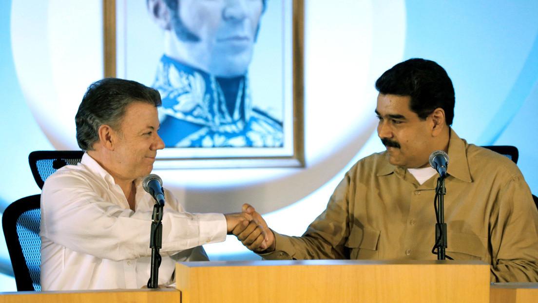"""Santos considera que Maduro """"está más fuerte que hace un año"""" y pide tender """"puentes"""" con Venezuela"""