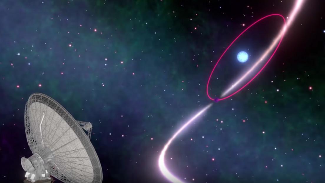 VIDEO: Observan una distorsión del espacio-tiempo en un sistema binario con una enana blanca que gira a extrema velocidad