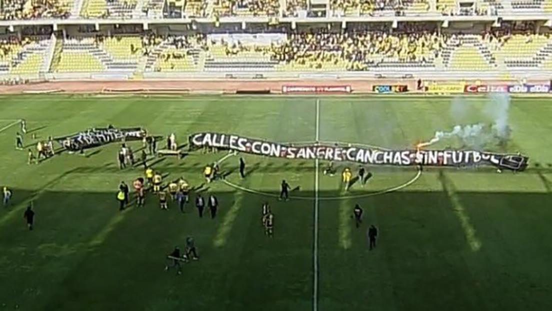 Una protesta de hinchas chilenos, tras la muerte de un fanático atropellado por Carabineros, obliga a suspender un partido de la liga