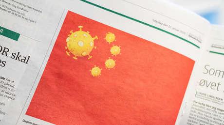 La Embajada china exige disculpas al periódico danés que publicó una caricatura sobre el coronavirus