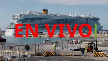 EN VIVO: Italia bloquea un crucero con 6.000 pasajeros cerca de Roma por posibles casos de coronavirus