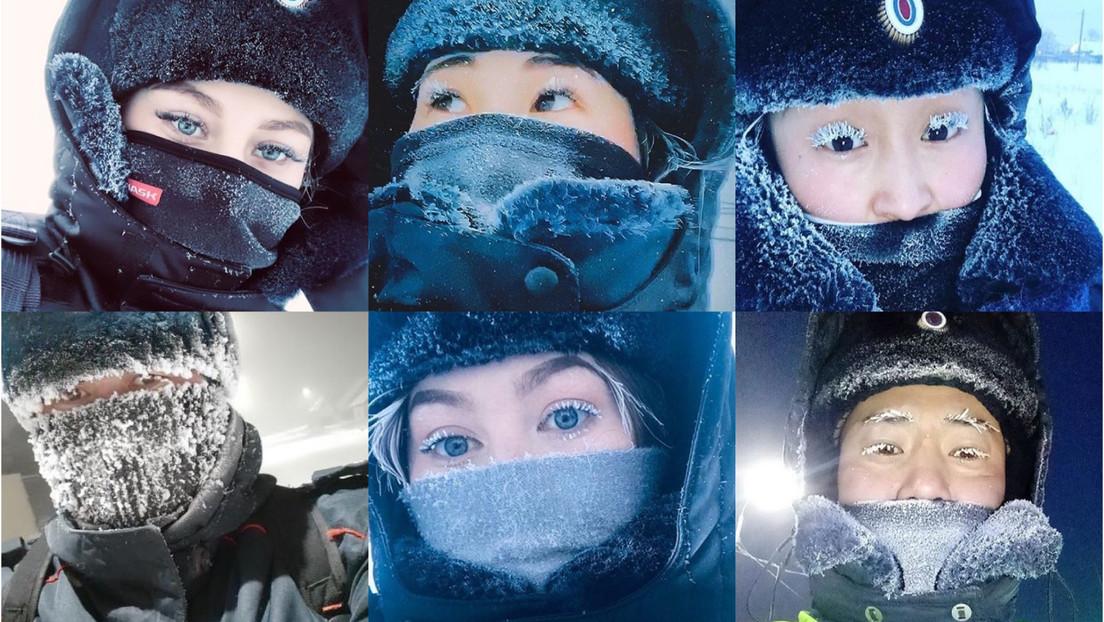 Policías congelados y gatos con uniforme: se hacen virales las publicaciones del Ministerio de Interior de una remota región rusa