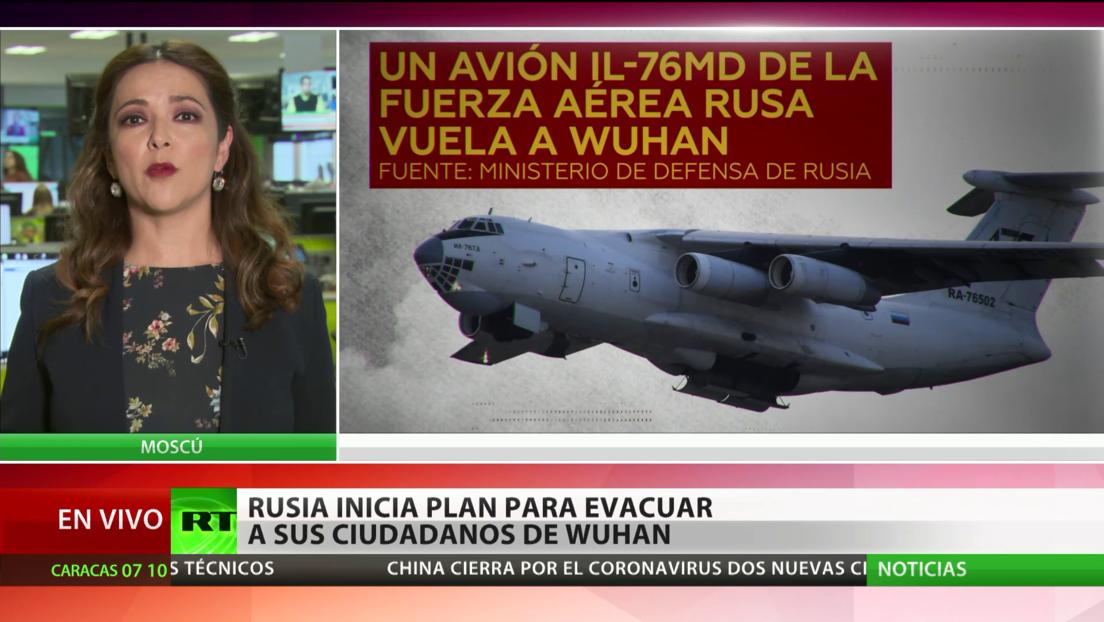 Rusia envía un avión de transporte militar para evacuar a sus ciudadanos de Wuhan por el coronavirus