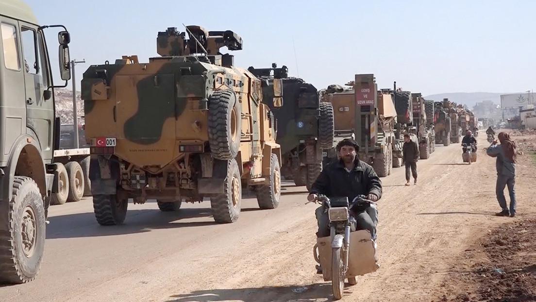 """Rusia: """"Llegan informaciones sobre un despliegue de tropas turcas en Idlib y sus enfrentamientos con el Ejército sirio"""""""