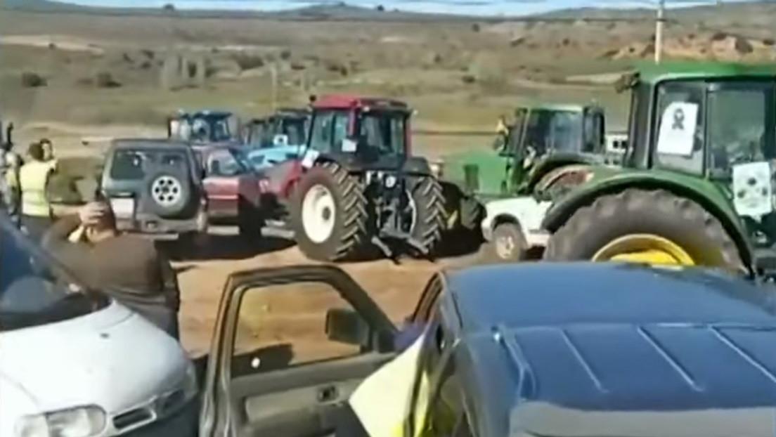 Los agricultores se manifiestan en España para reclamar precios justos para sus productos