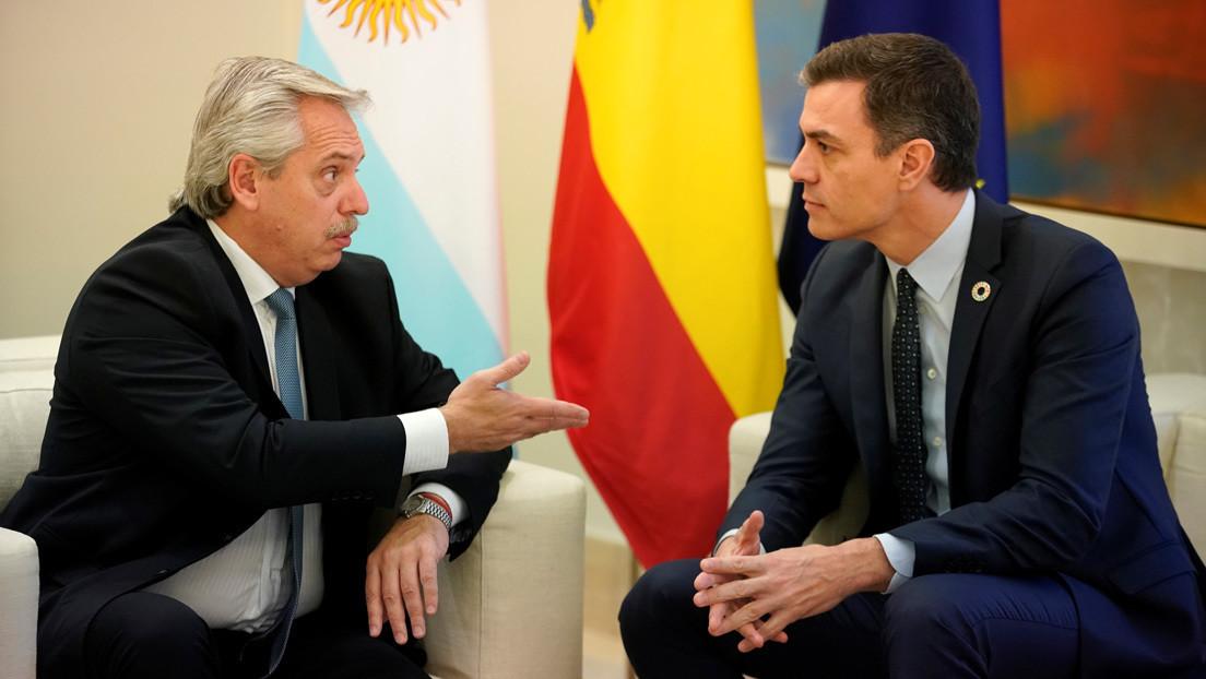 Alberto Fernández suma el apoyo de Pedro Sánchez para renegociar la deuda con el FMI