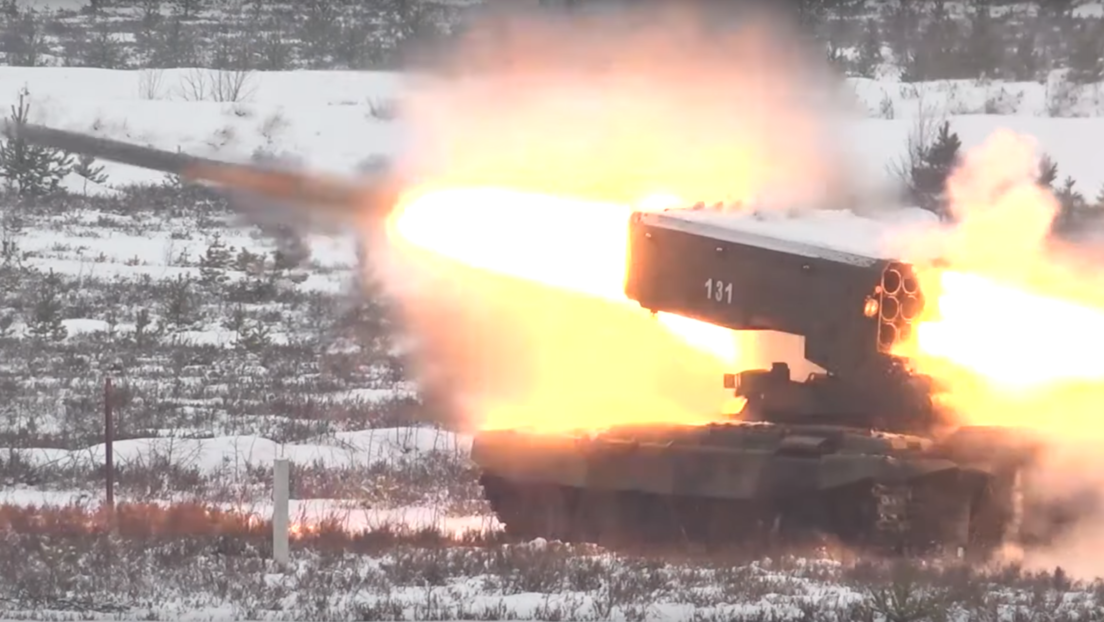 VIDEO: Rusia muestra en acción el sistema de lanzacohetes pesados Solntsepiok
