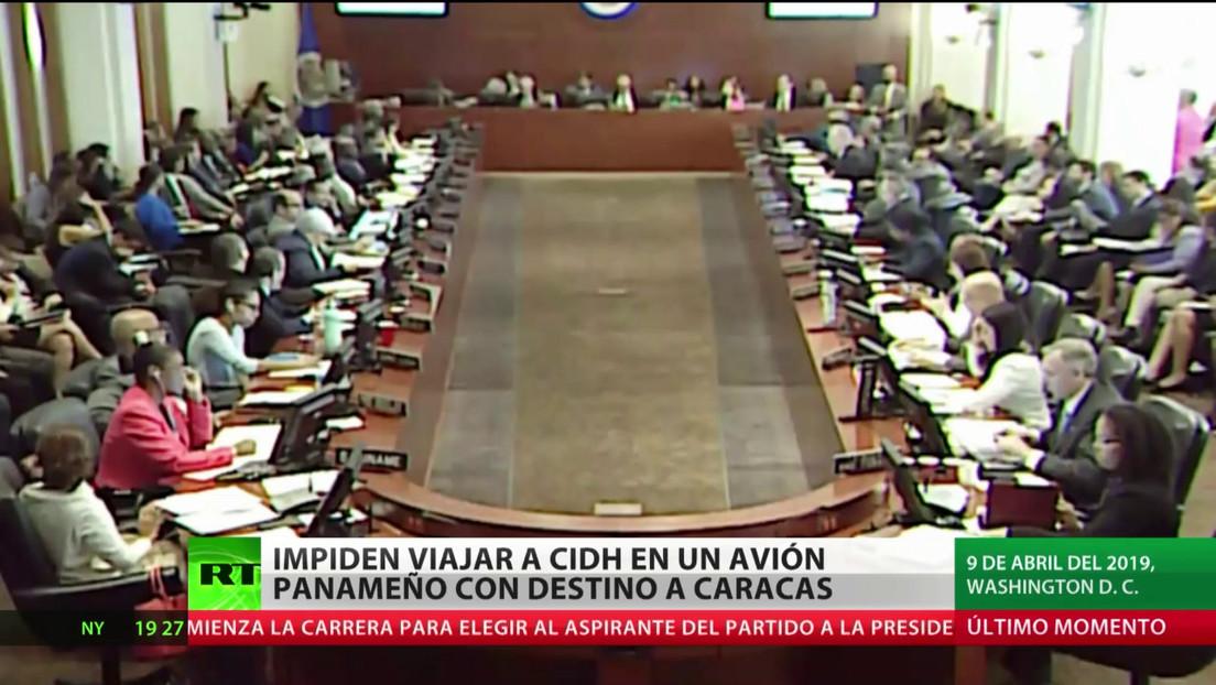 Impiden a miembros de la CIDH abordar un avión panameño con destino a Caracas