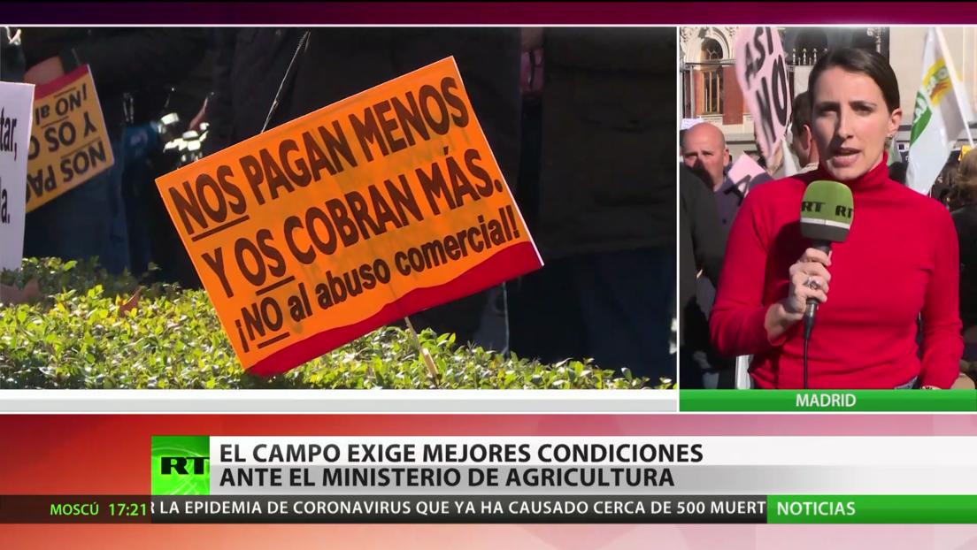 El sector agrícola español se manifiesta para exigir precios más altos para sus productos