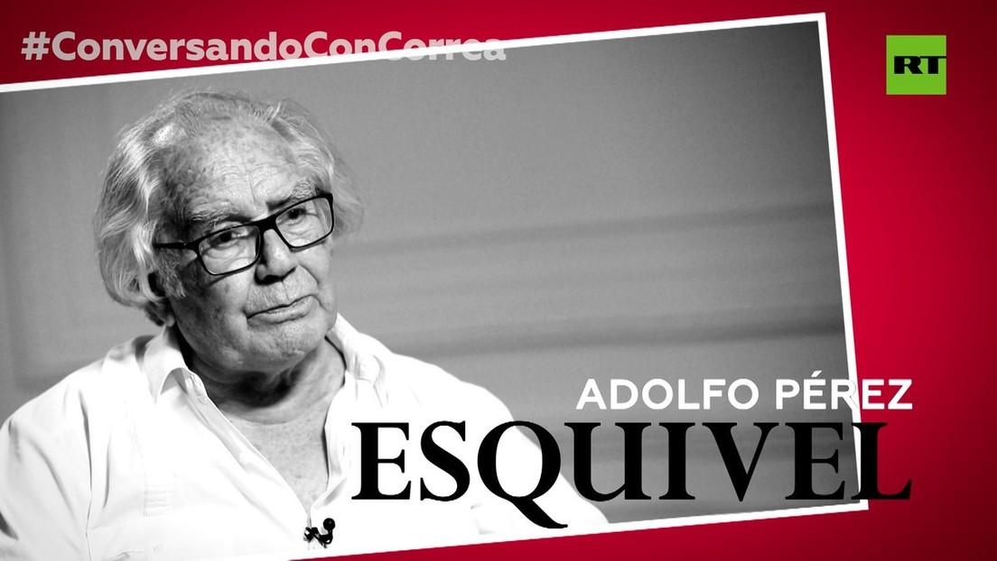 """Adolfo Pérez Esquivel a Correa: """"La democracia formal, donde el pueblo delega todo el poder, está agotada"""""""