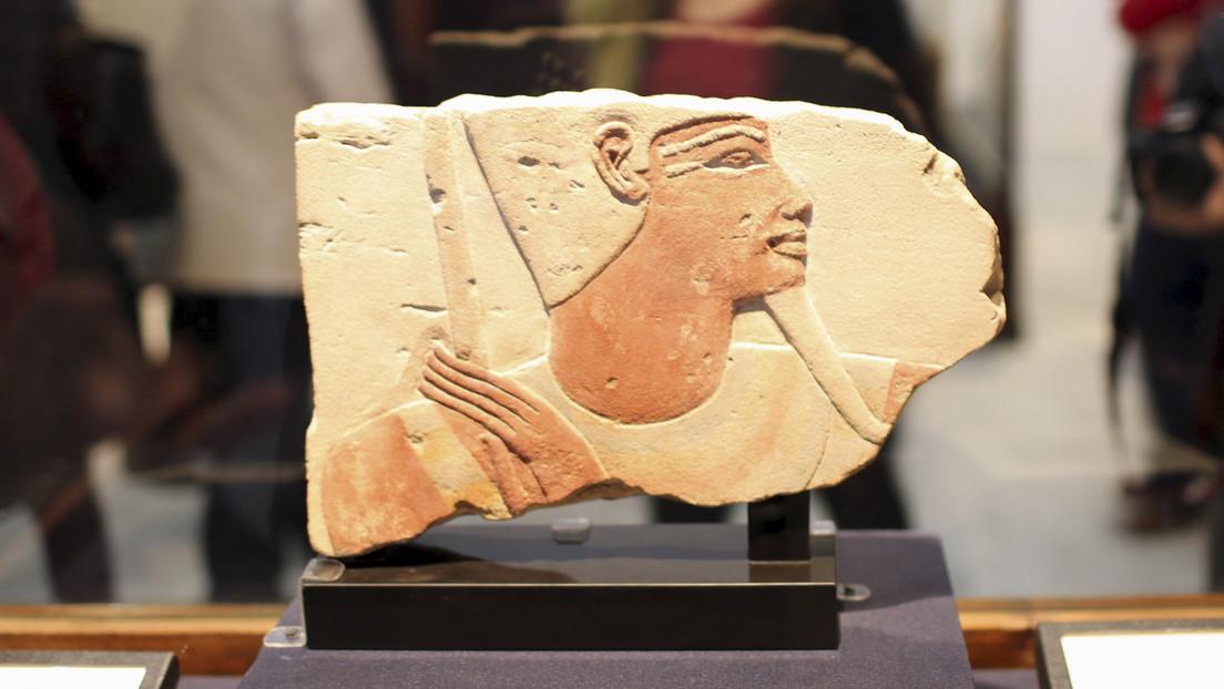 Hallan en Israel un ancla del Antiguo Egipto con la imagen de una diosa sin rostro