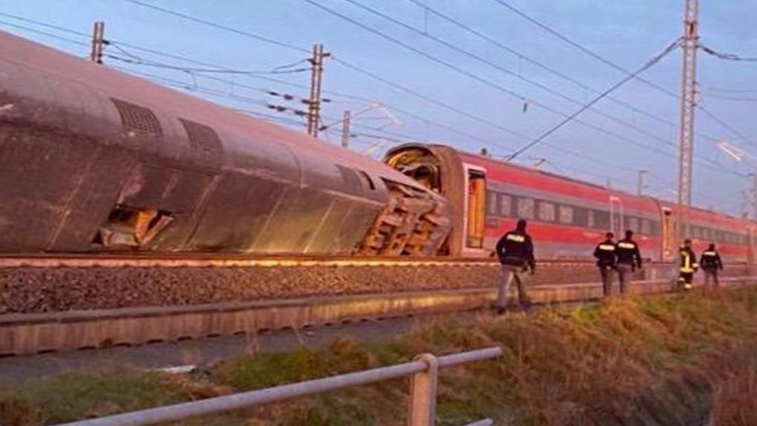Varios muertos al descarrilar un tren de alta velocidad cerca de Milán (FOTOS)