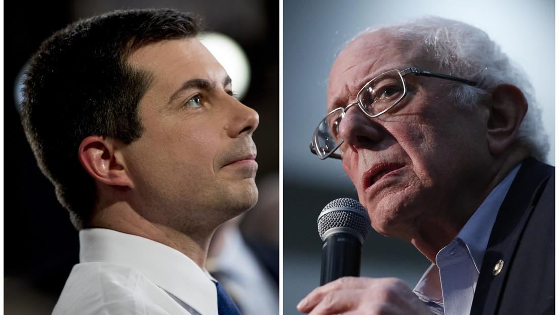 Pete Buttigieg derrota a Bernie Sanders por escaso margen en el caucus demócrata de Iowa