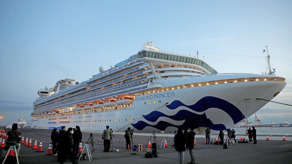Un argentino en el crucero en cuarentena en Japón, el primer caso de un latinoamericano afectado por coronavirus
