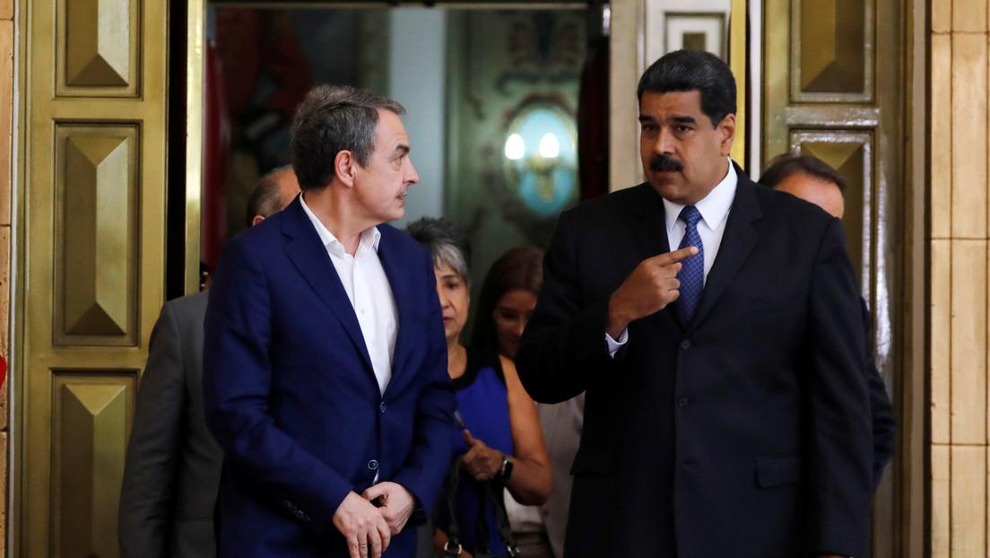 Maduro recibe a Rodríguez Zapatero en Caracas para evaluar el avance del diálogo con la oposición