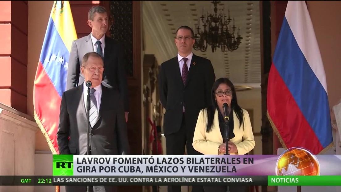 Lavrov fomentó lazos bilaterales de Rusia en su gira por Cuba, México y Venezuela