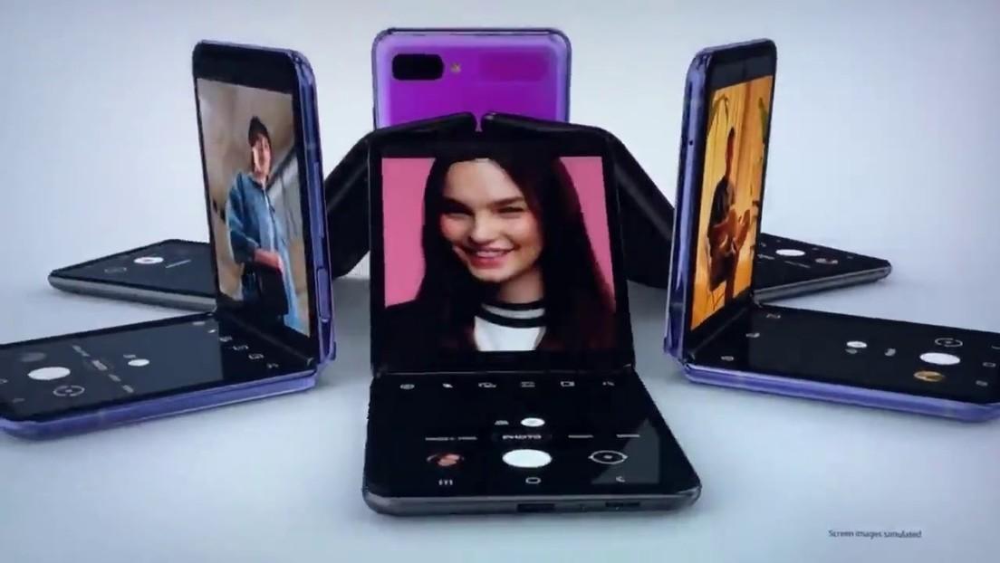 Samsung muestra su teléfono plegable al estilo del Motorola Razr durante la gala de los Óscar 2020 (VIDEO)