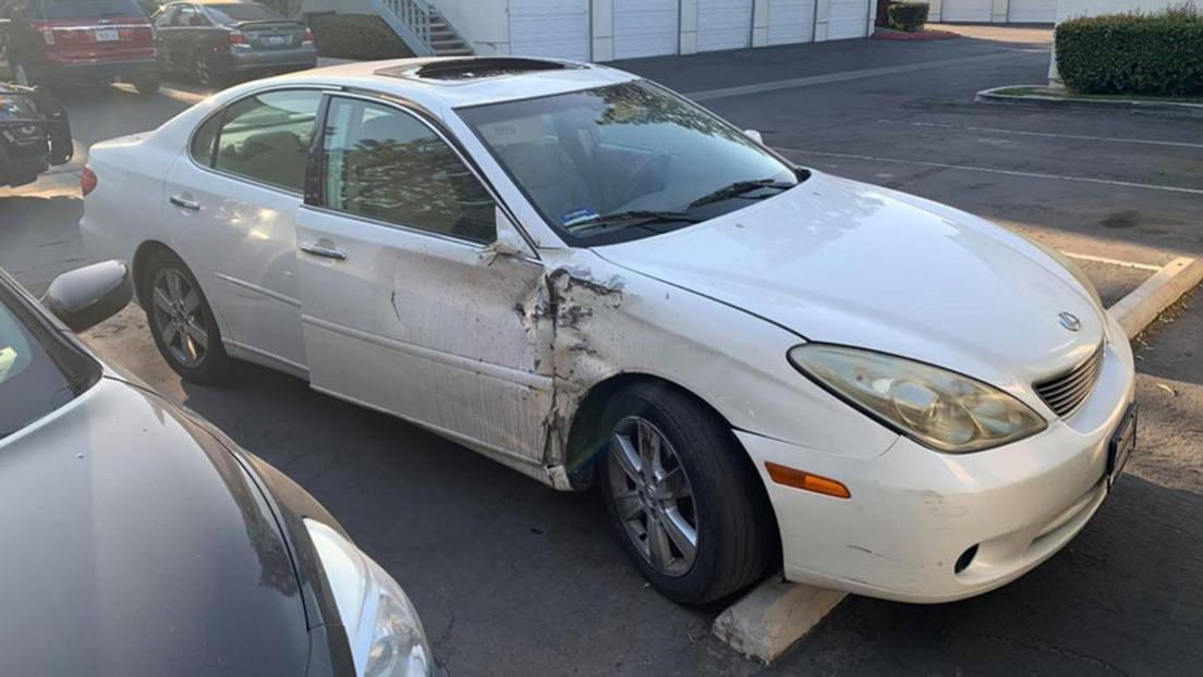 Va a la escena del crimen y encuentra el auto que dos días antes atropelló y mató a su esposa y se dio a la fuga