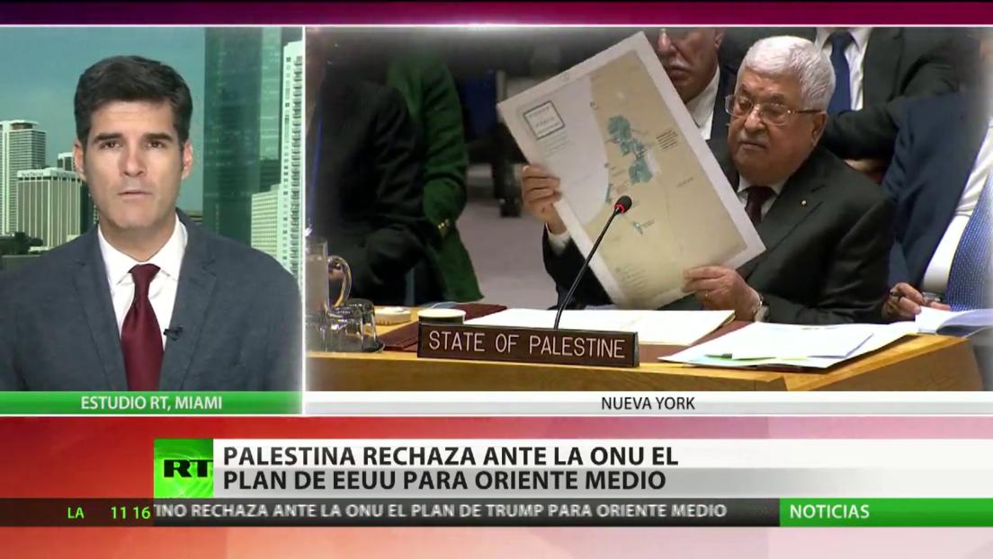 Palestina rechaza ante la ONU el plan de EE.UU. para Oriente Medio
