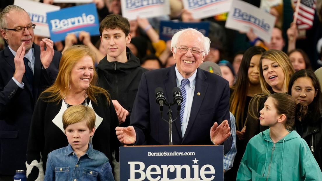 """Bernie Sanders gana las primarias de Nuevo Hampshire y promete que su triunfo marcará """"el principio del fin"""" para la presidencia de Trump"""