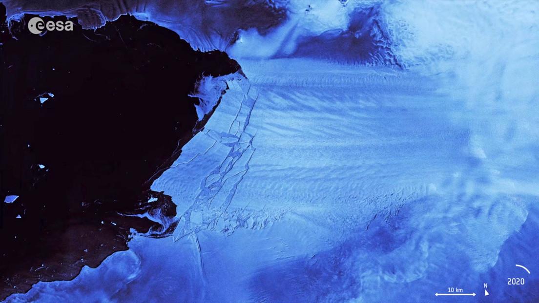 VIDEO: Un gigantesco iceberg se desprende de un glaciar en la Antártida