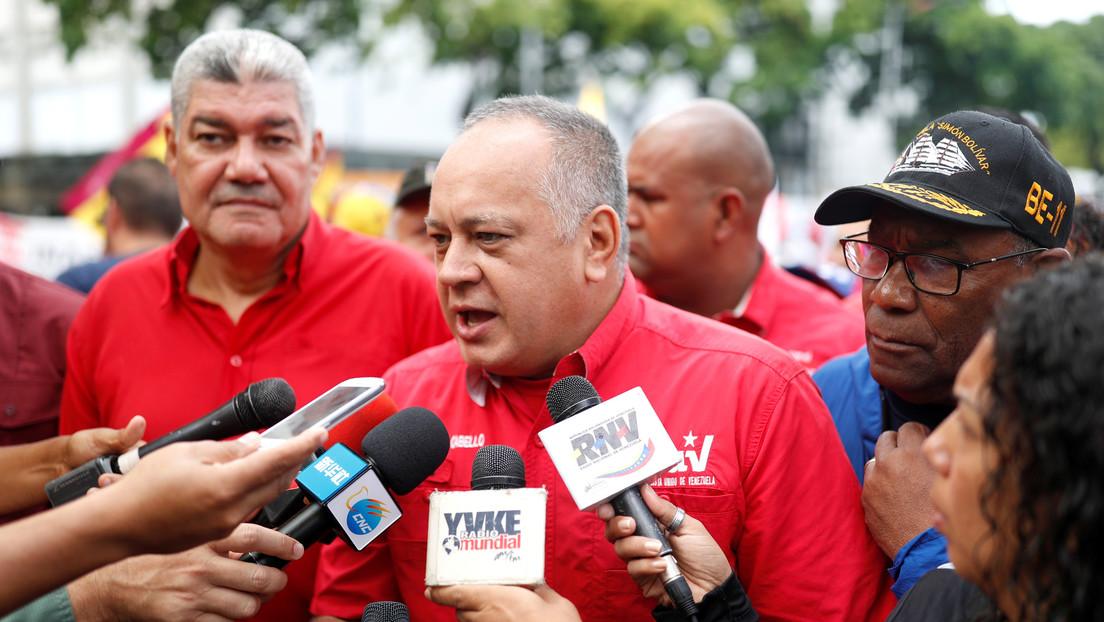 """Cabello sobre el repudio a Guaidó en Caracas: """"Él pide sanciones y espera que el pueblo lo reciba con aplausos"""""""