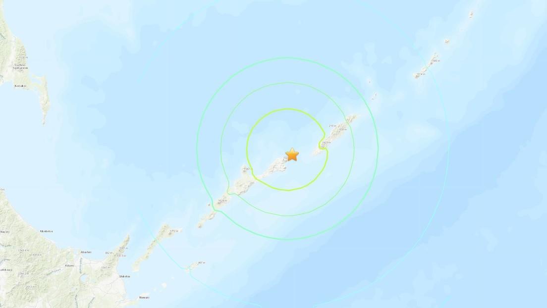Un sismo de magnitud 6,9 se registra frente a las costas de las islas Kuriles