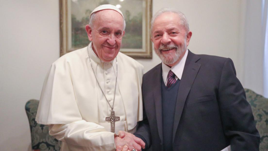 El papa Francisco recibe a Lula en el Vaticano