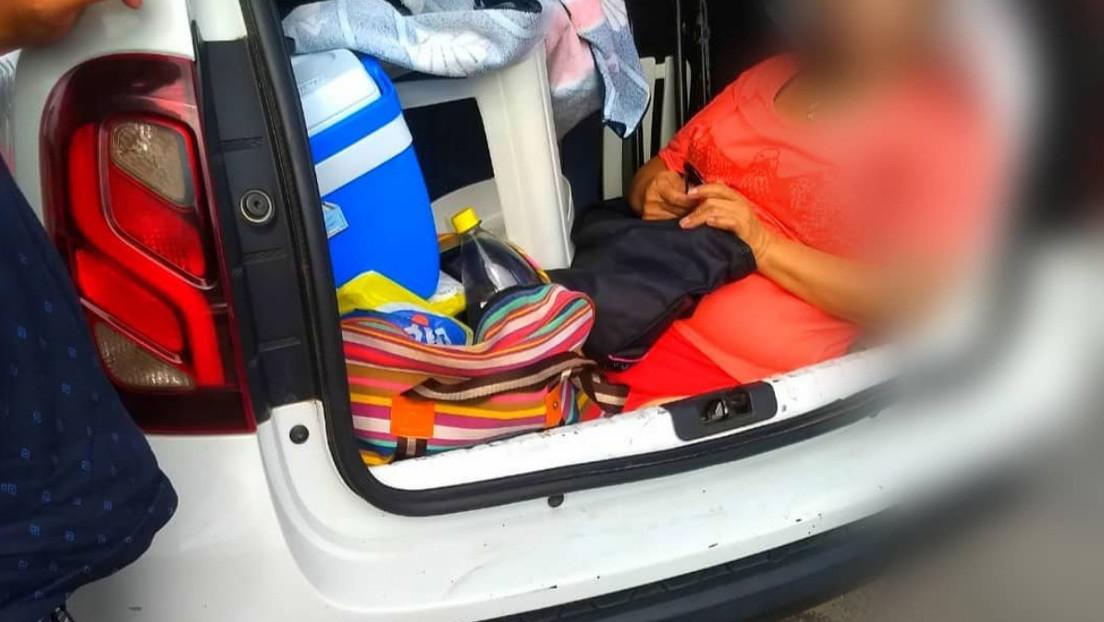 La Policía brasileña atrapa a un argentino que llevaba a su suegra en el maletero del auto