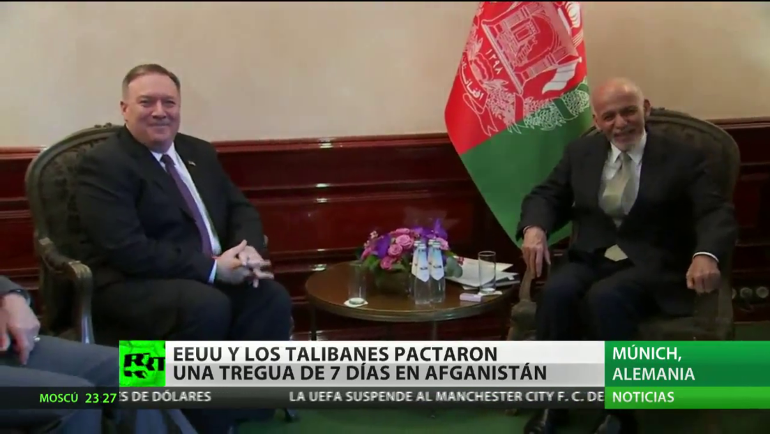EE.UU y los talibanes pactan una tregua de 7 días en Afganistán