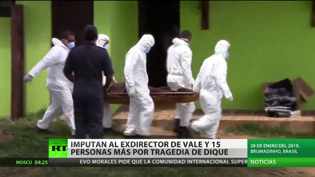 Imputan en Brasil al exdirector de Vale y 15 empleados más por la tragedia del dique