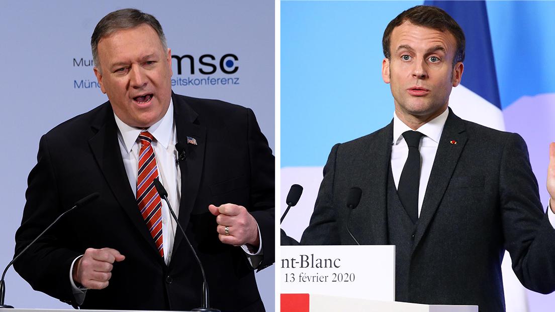 """¿""""Gana"""" o """"se debilita"""" el Oeste? Las posturas opuestas expresadas por Pompeo y Macron"""