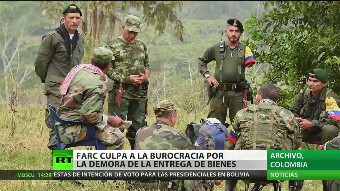 FARC culpa a la burocracia por la demora en la entrega de bienes