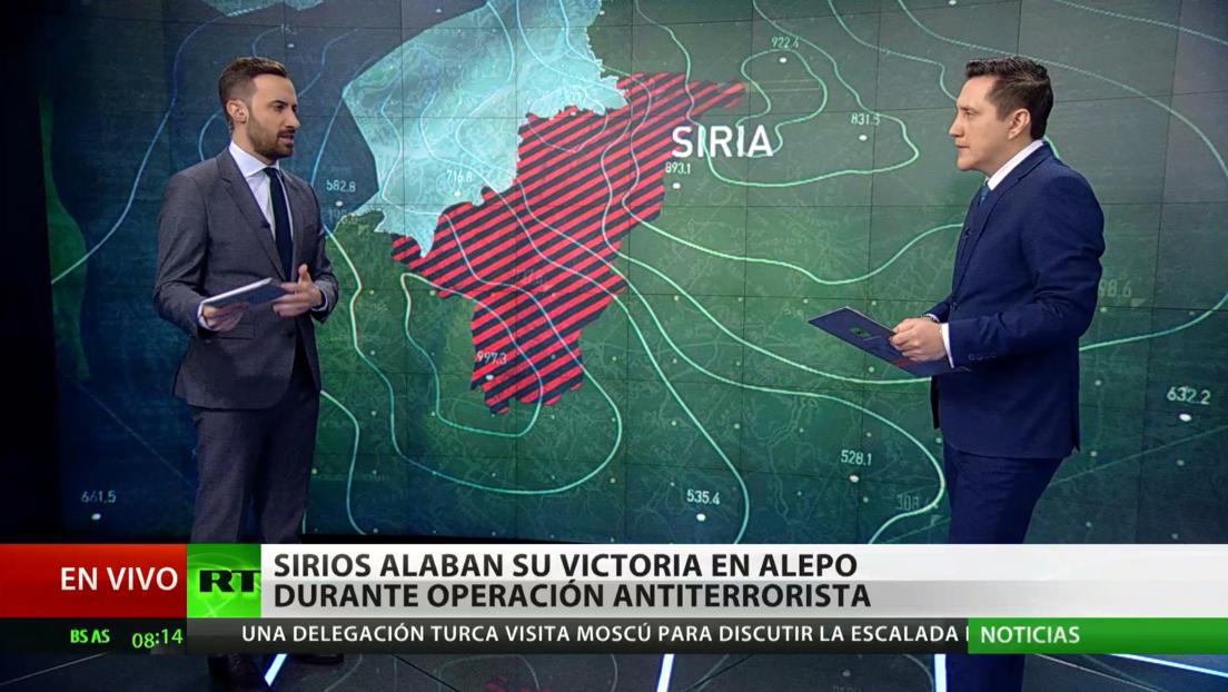 Siria ensalza la victoria en Alepo durante una operación antiterrorista