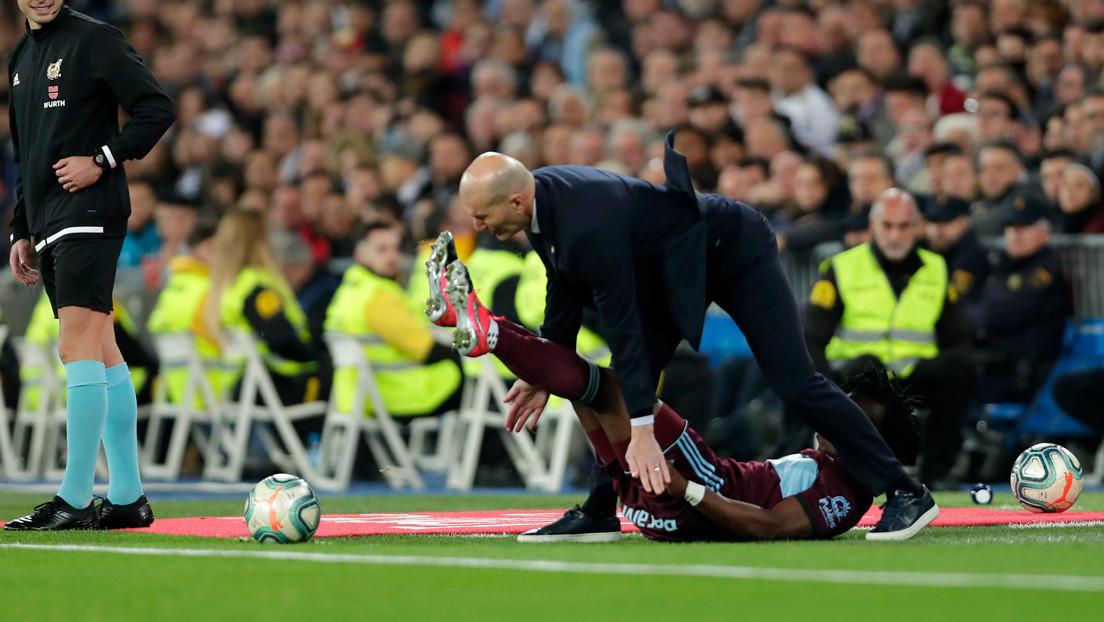Zinedine Zidane recibe una patada en la boca de parte de un futbolista del equipo rival y se viraliza en la Red (VIDEO)