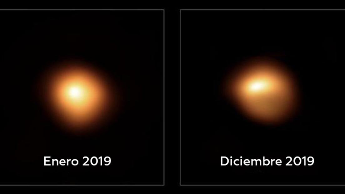 Nuevas imágenes muestran la increíble pérdida de brillo de Betelgeuse